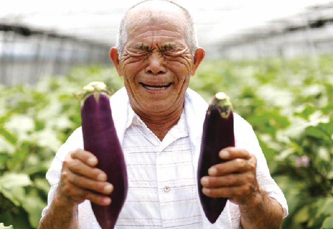笑顔の農家さん